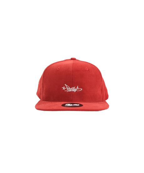 BZWS TAG CORDUROY B.B CAP [RED]
