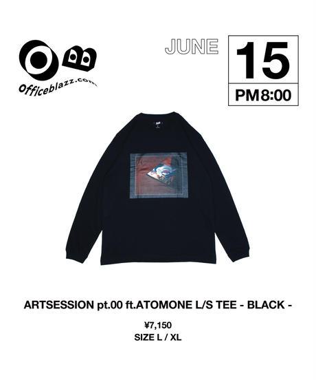 ARTSESSION pt.00 ft.ATOMONE L/S TEE [BLACK]