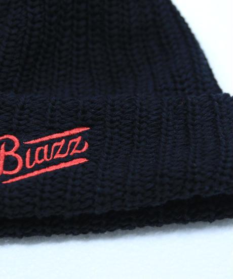LOGO SHORT BEANIE [BLACK x RED]