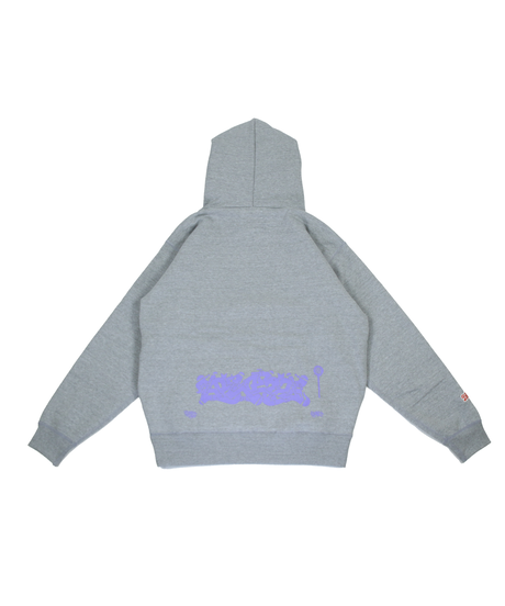 ITALY BLAZZ by Kreso World Wide COLLAB 00 SUPERHEAVY HOODIE [ASH GRAY]
