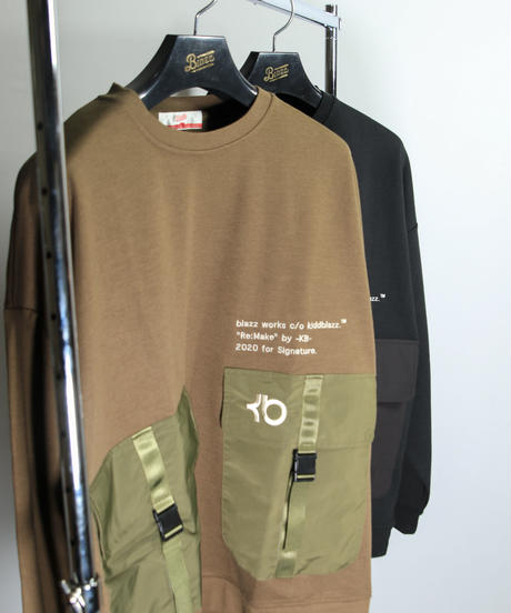 KB. W POKET ARMY BIG SWEAT [KHAKI]