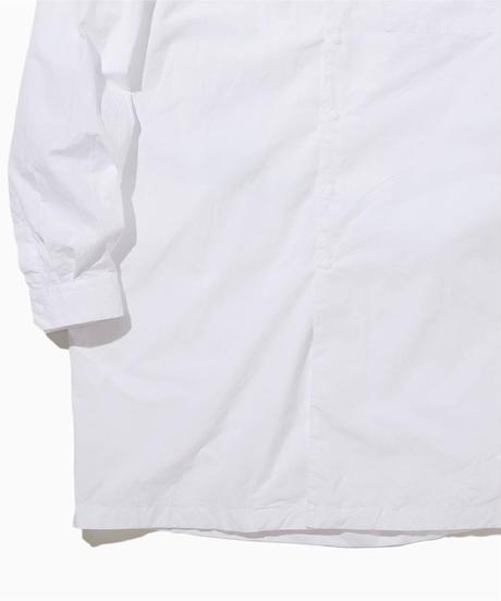 BRIAN WIDE COLLAR LONG  SHIRT-WHITE-