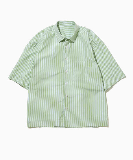 JEAN SHORT SLEEVE WIDE  SHIRTS-GREEN-