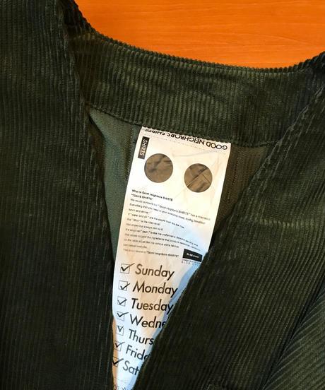 KURT WIDE NO COLLAR SHIRTS-KHAKI- モデル着用Lサイズ(身長178cm)