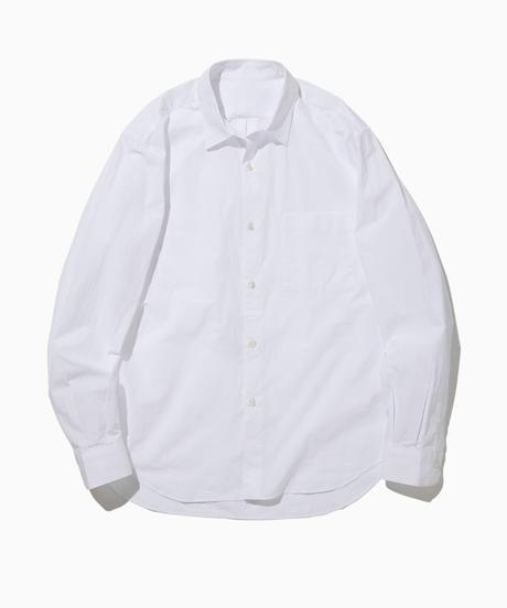 JOHN REGULAR COLLAR SHIRTS-WHITE- モデル着用Lサイズ(身長178cm)