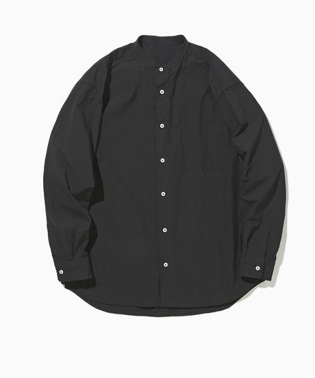 WEB限定:LIAM BAND COLLAR SHIRT-SEA-