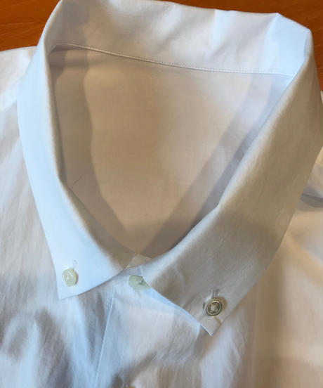 ELVIS WIDE BD COLLAR SHIRTS-WHITE- モデル着用Lサイズ(身長178cm)