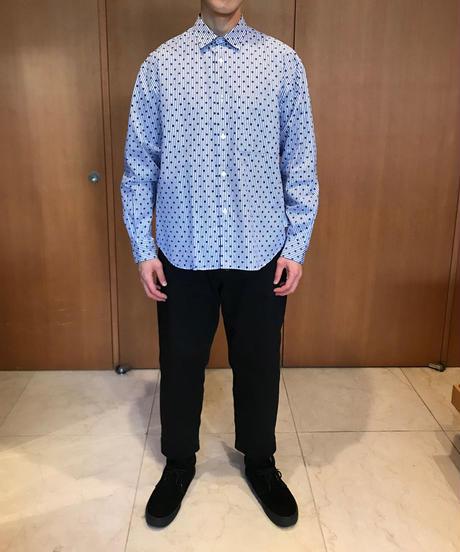 NOEL WIDE REGULAR COLLAR SHIRTS-DOT- モデル着用Mサイズ(身長178cm)