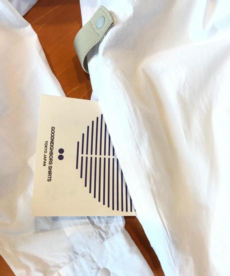 BRIAN WIDE COLLAR LONG SHIRTS-WHITE- モデル着用Mサイズ(身長178cm)