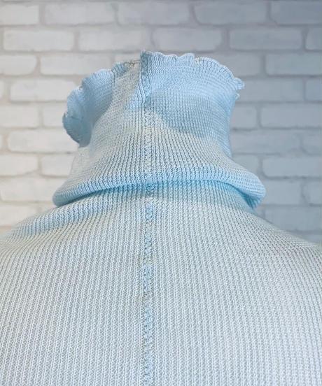 ハイネック綿ニットプルオーバー