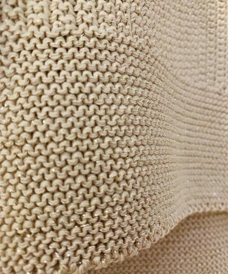 横編みラメプルオーバー