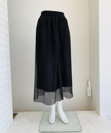 【再入荷】 メッシュスカート