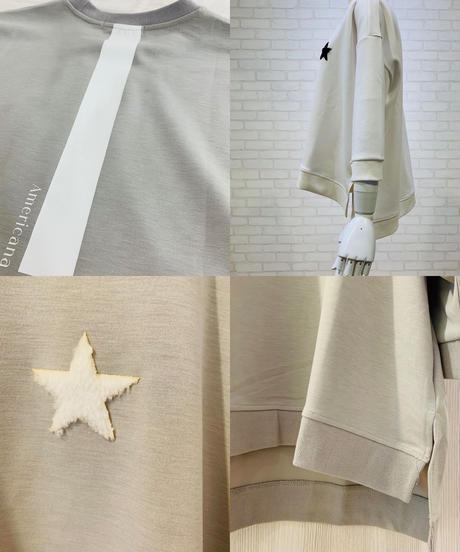 ●インスタLIVE0413●星刺繍バックプリントポンチプルオーバー