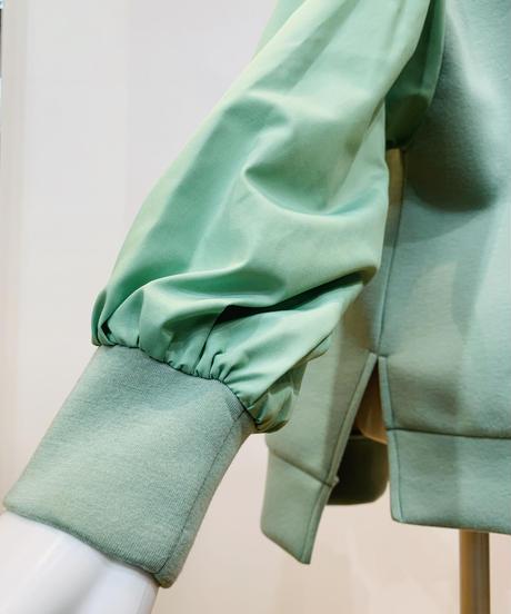 袖切り替えボンディングパーカー