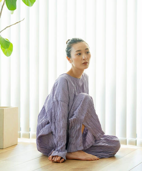 Doux.【1mileHOMEwearご予約】 ワッシャー加工パンツ SETUP-③