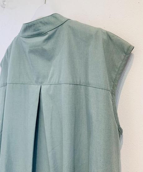 フレンチ袖longシャツワンピース