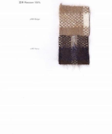 【Punt D'oro'21秋冬ご予約】 Ferret Hair チェックポンチョ タータン3色ジャカード (リバーシブル)