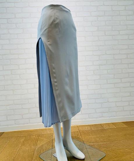 ビスチェ付きサイドプリーツ  スカート