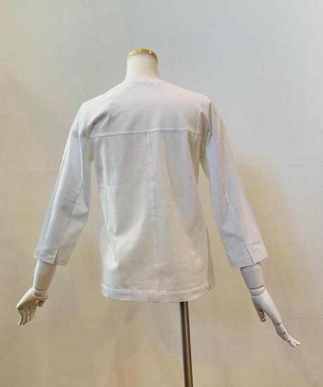 ●インスタLive●フロッキー加工ロゴ七分袖Tシャツ
