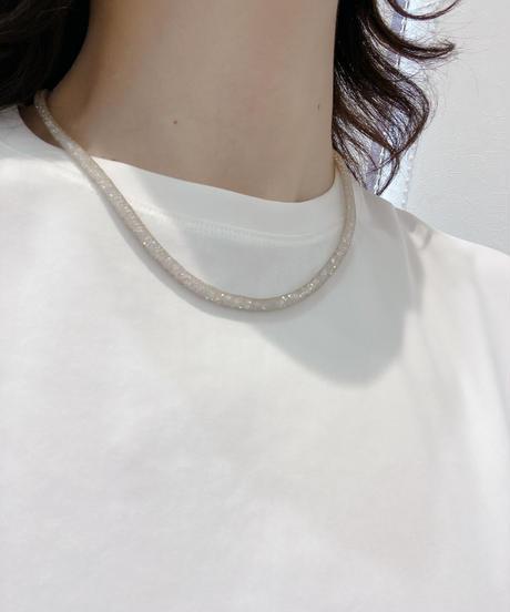 【Tomo's SERECT】メッシュワイヤーダイヤネックレス M size