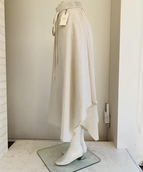 アシンメトリーlinenスカート