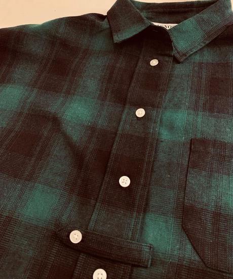 ●はやくも再入荷●羽織りもカッコいい ネル地 チェックシャツワンピース