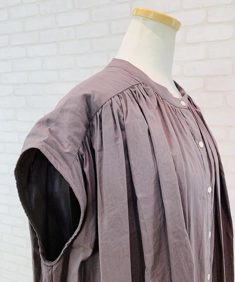 綿シフォンティアードlongシャツワンピース