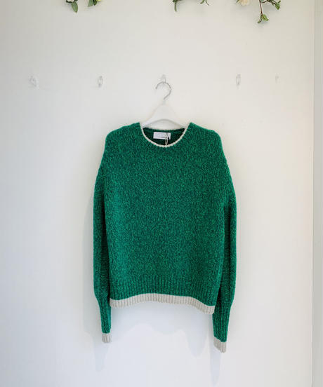 【Punt D'oro'21秋冬ご予約】 Bouclé Knit. MIX杢プルオーバー
