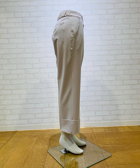ダブル裾ストレートパンツ