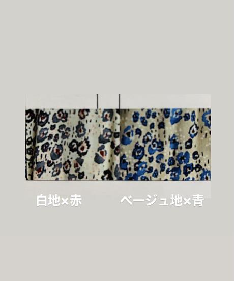【2021春ご予約】水彩花柄ギャザープリーツシャツワンピース
