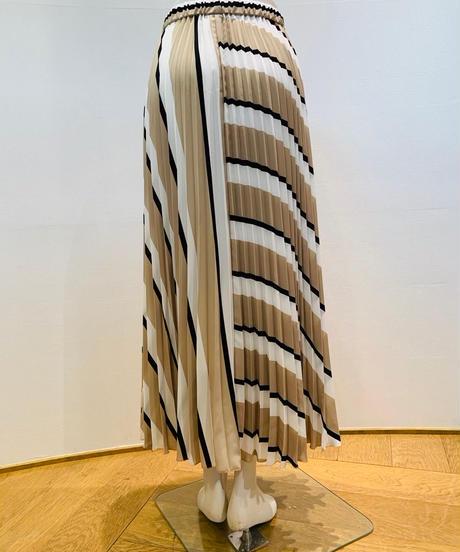 バイカラー・ドッキングプリーツスカート