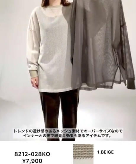 大人気【追加生産決定‼️】メッシュプルオーバー