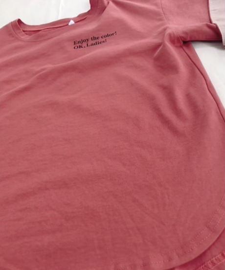 折り返し袖ロゴTシャツ
