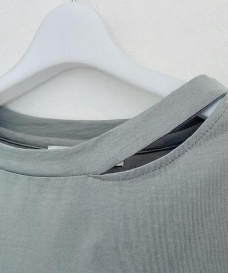 ●インスタLive●     変形丸襟フレンチ ロングカットソーワンピース
