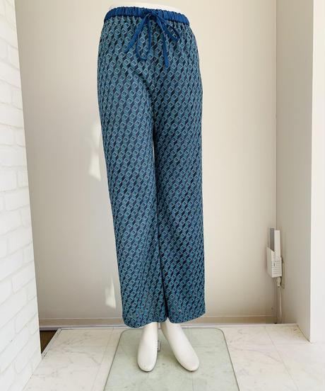 ジオメトリック織柄Knitパンツ