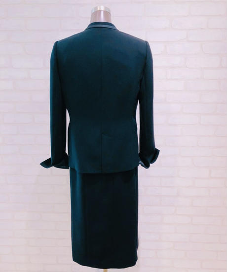 ノーカラー袖サテンジャケット/190121-1