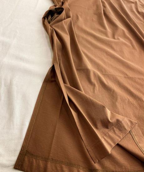 ●インスタLive● シルケット綿布帛切替・カットソーワンピース