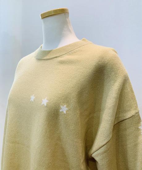 星柄インターシャ・カシミア混プルオーバー
