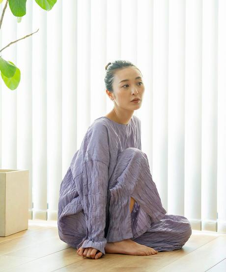 Doux.【1mileHOMEwearご予約】 ワッシャー加工チュニック(前後着用) SETUP-③