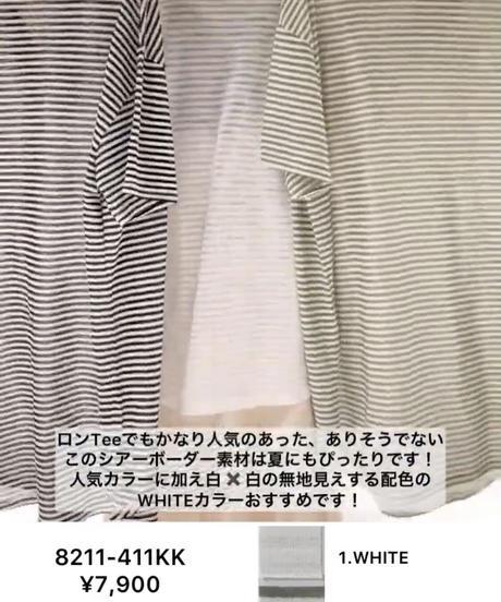 【2021夏ご予約】 CHIGNON シアーボーダーTee
