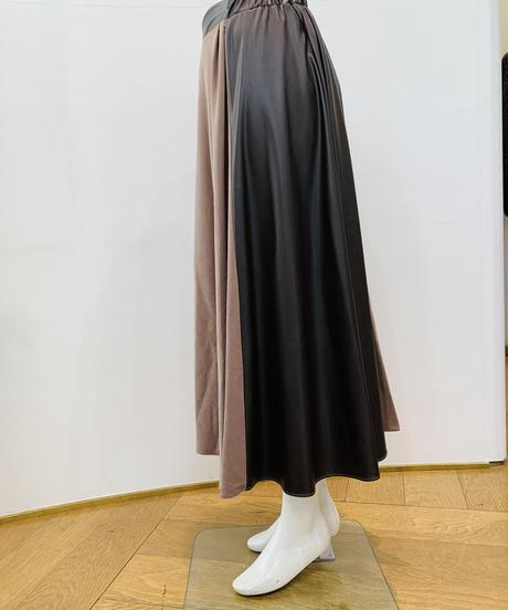 ご予約★フェイクレザー切り替えスカート