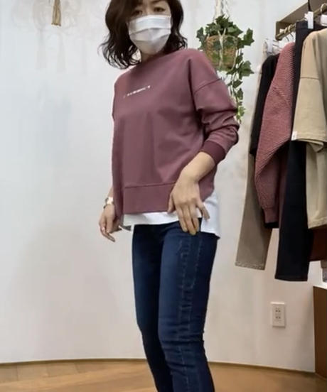 【'21秋冬プライアPraiaご予約】バッククロスlongTee
