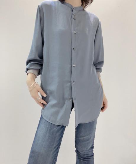 ジレ付き袖リブシャツ