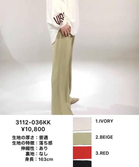 センタープレスパンツ 9/21再入荷リクエスト■ブラック完売