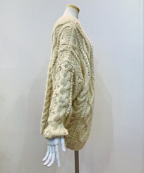 ざっくりアラン編みカーディガン