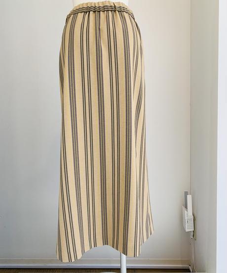 擬麻キャンパスストライプスカート(setup)