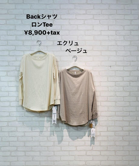 BackシャツロンTee