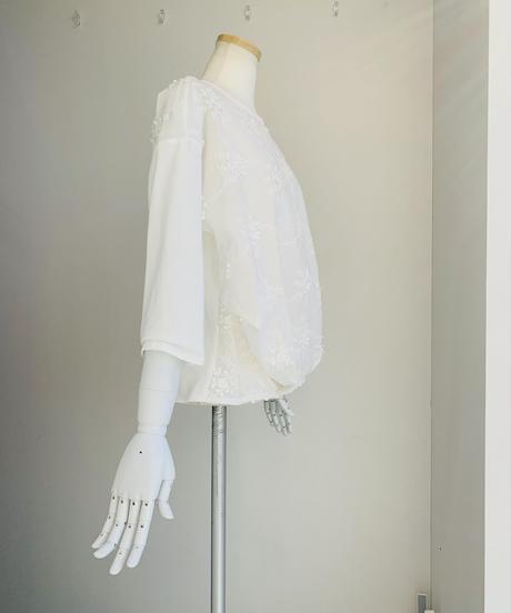 袖ドッキング刺繍スモッグ