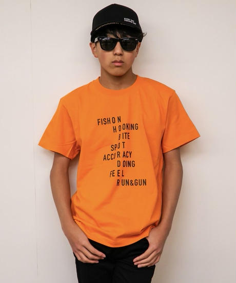 men's ストーリーTシャツ (オレンジ)