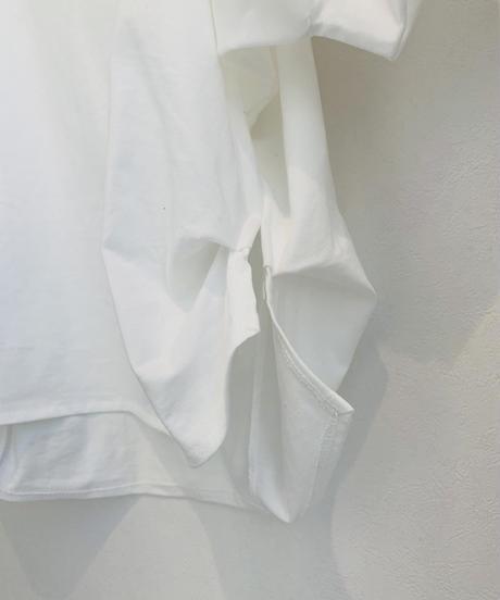 布帛切り替えパフ袖トップス